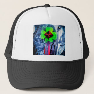Abstractly in perfection luck trucker hat