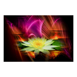Abstractly in perfection - sea-rose poster