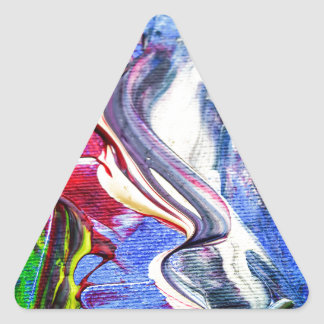 Abstractly in perfection triangle sticker