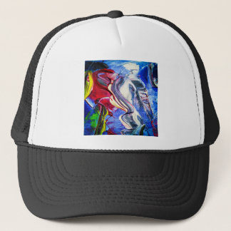 Abstractly in perfection trucker hat