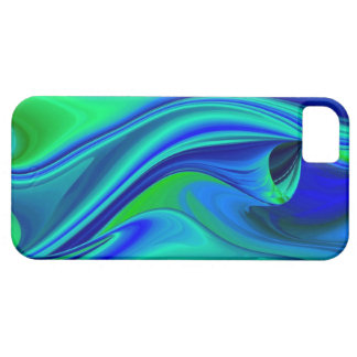 abstractly into green blue PUR-polarize iPhone 5 Covers