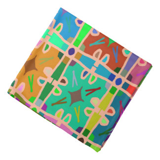 Abstractly Multi Color Art Pattern Bandana