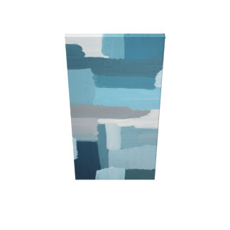 abstractly painted blue surfaces canvas print