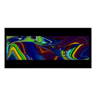 abstractly rainbow poster