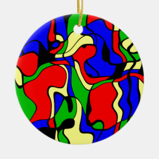 Abstractly samples ceramic ornament