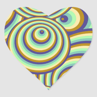 Abstractly samples heart sticker