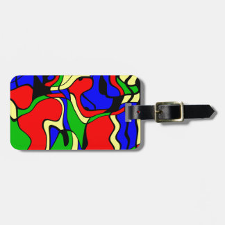 Abstractly samples luggage tag