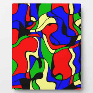Abstractly samples plaque