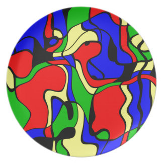 Abstractly samples plate