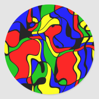 Abstractly samples round sticker