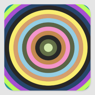 Abstractly samples square sticker