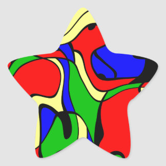 Abstractly samples star sticker