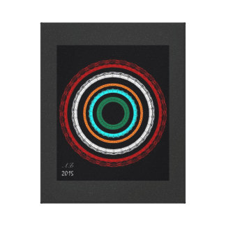 """Abstractly """"tunnels """" canvas print"""