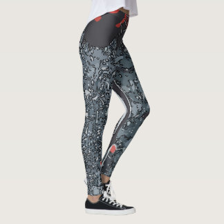 Abstracts Greys Matisse style, Leggings