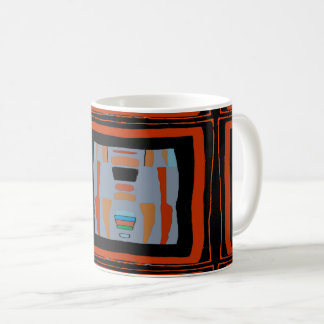 Abstracts in Black Square Coffee Mug
