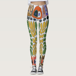 Abstracts Leaves Matisse style, Leggings