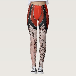 Abstracts Red Matisse style, Leggings
