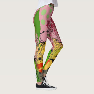 Abstracts Shapes Matisse style, Leggings