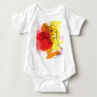 abtract Ganesha Paintings Baby Bodysuit