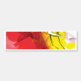 abtract Ganesha Paintings Bumper Sticker
