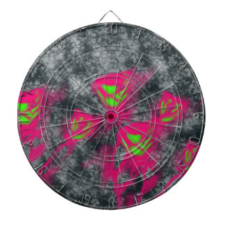 abtract roses dartboard