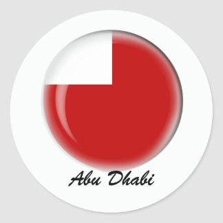 Abu Dhabi Classic Round Sticker