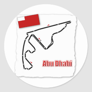 Abu Dhabi GP Circuit Classic Round Sticker