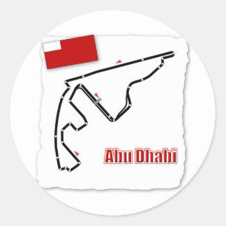 Abu Dhabi GP Circuit Round Sticker