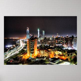 Abu Dhabi Night Poster