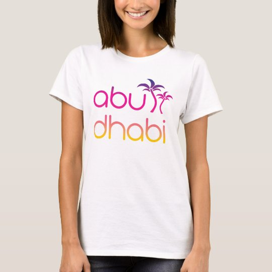 Abu Dhabi Palms in Sunset Colours T-Shirt