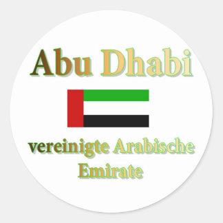 Abu Dhabi Round Sticker