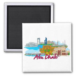 Abu Dhabi - Saudi Arabia Square Magnet