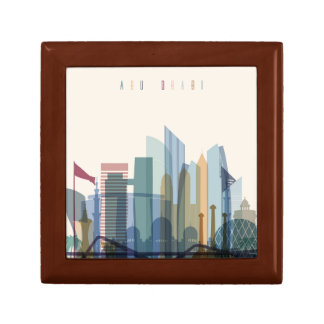 Abu Dhabi, United Arab Emirates | City Skyline Gift Box