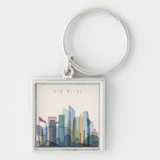 Abu Dhabi, United Arab Emirates | City Skyline Keychain