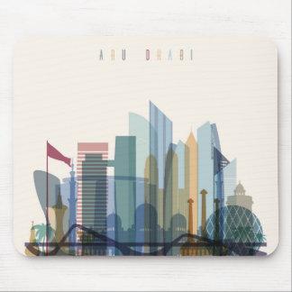 Abu Dhabi, United Arab Emirates | City Skyline Mouse Pad