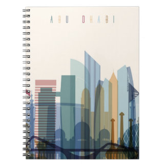 Abu Dhabi, United Arab Emirates | City Skyline Notebook