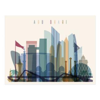 Abu Dhabi, United Arab Emirates | City Skyline Postcard