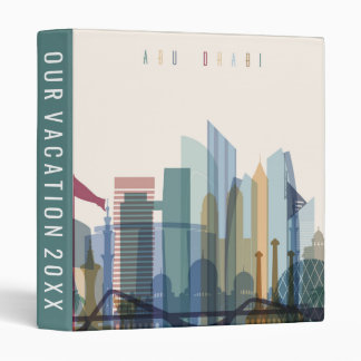 Abu Dhabi, United Arab Emirates | City Skyline Vinyl Binder