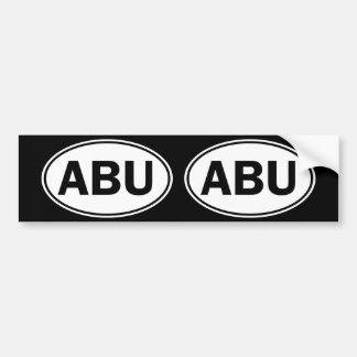 ABU Oval ID Bumper Sticker
