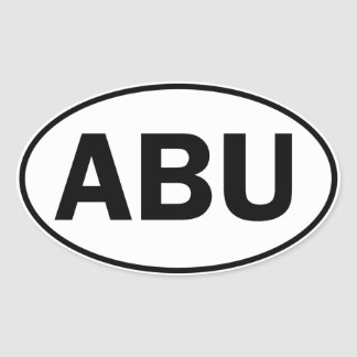 ABU Oval ID Oval Sticker