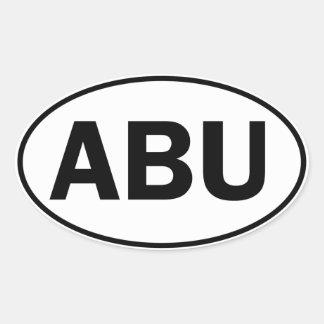 ABU Oval ID Oval Sticker