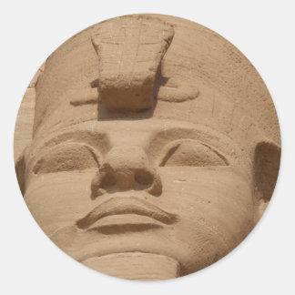 abu simbel face round sticker
