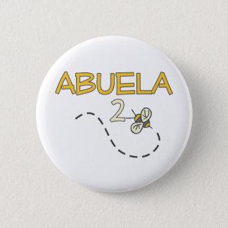 Abuela 2 Bee 2 Inch Round Button