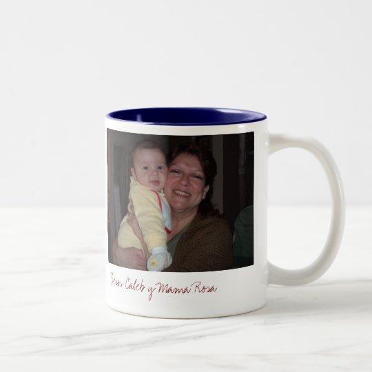 AbuelitaAndMeDucky, Besos Caleb y Mama Rosa Two-Tone Coffee Mug