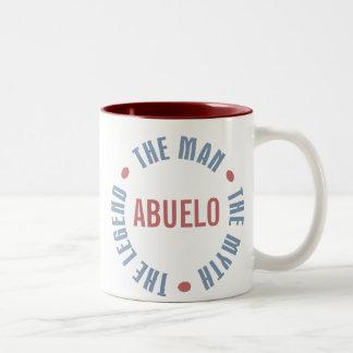 Abuelo Man Myth Legend Customizable Two-Tone Coffee Mug