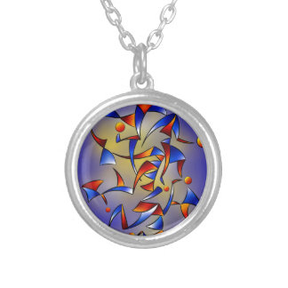 Abugila V5 Silver Plated Necklace