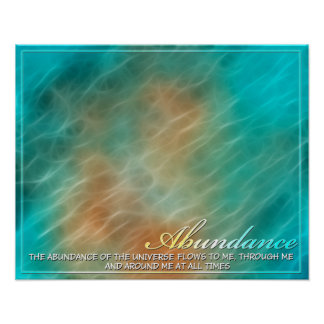 Abundance Abstract Energy Poster