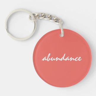 Abundance Affirmation Keychain