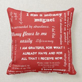 Abundance Affirmation Throw cusion Throw Pillow