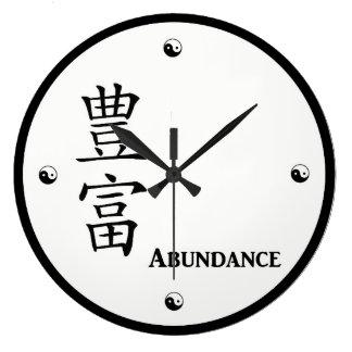 Abundance Kanji Clock